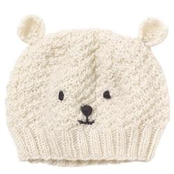Polar bear beanie // 100% wool // Made fairly in Nepal