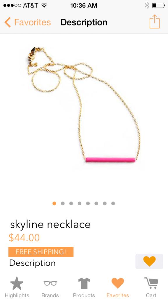 orangeharpnecklace