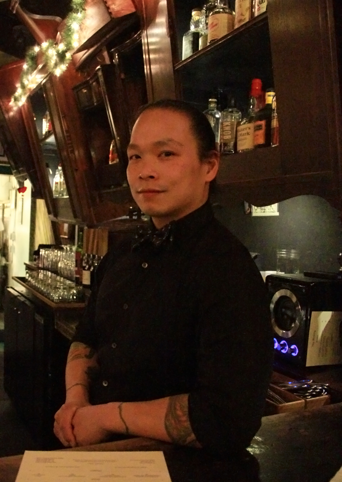 Kevin Ang runs the cocktail program at The Bounty, helps create the menu, and does a little baking, too.
