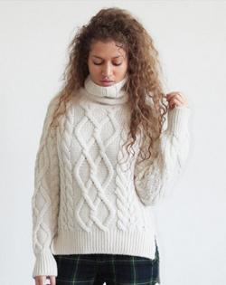 100% Alpaca cable sweater