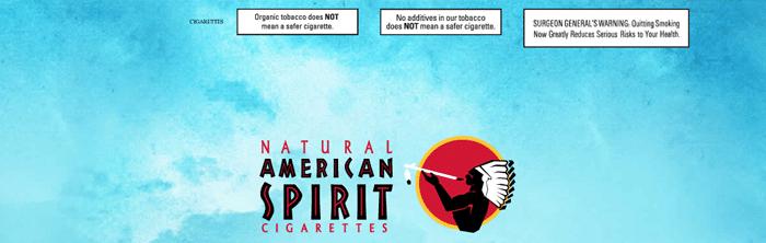 American Spirits warning