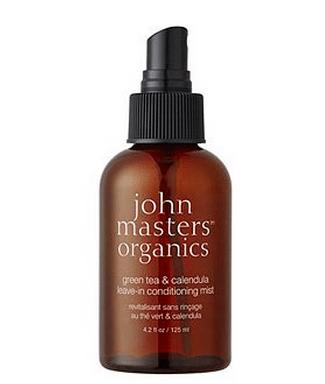Review John Masters Organics green tea & calendula leave-in conditioning mist