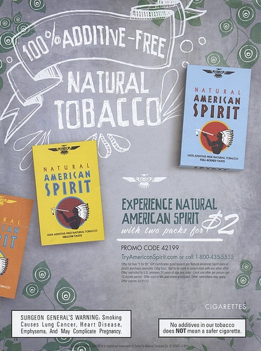 Natural Spirit Cigarettes Organic