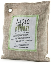 Moso Air Freshener Bag - You can get a large one for closets and the bathroom, and a small one for your fridge.