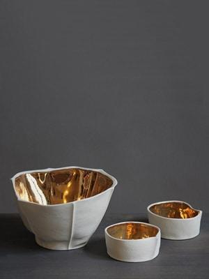 Kawa Gold Bowls // Made in New York City