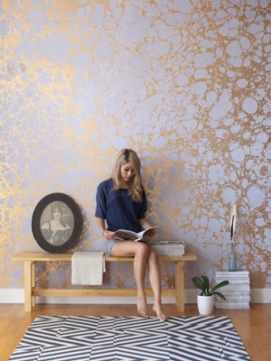 Gorgeous wallpaper // made in NYC