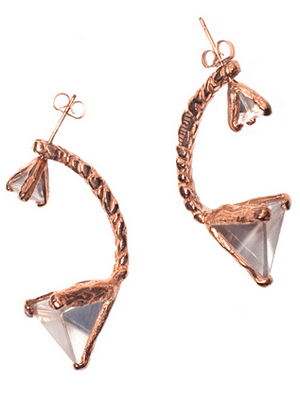 Unearthen Raw Quartz Earrings with Studs