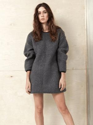 Cozy wool sweater dress // Datura