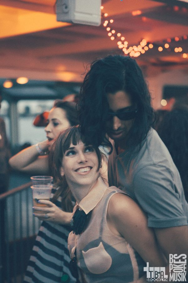 Me now, with my very unbasic boyfriend, dancing to unbasic music, at an unbasic party, with unbasic people. This was the highlight of my summer. Photo by Dean McCol