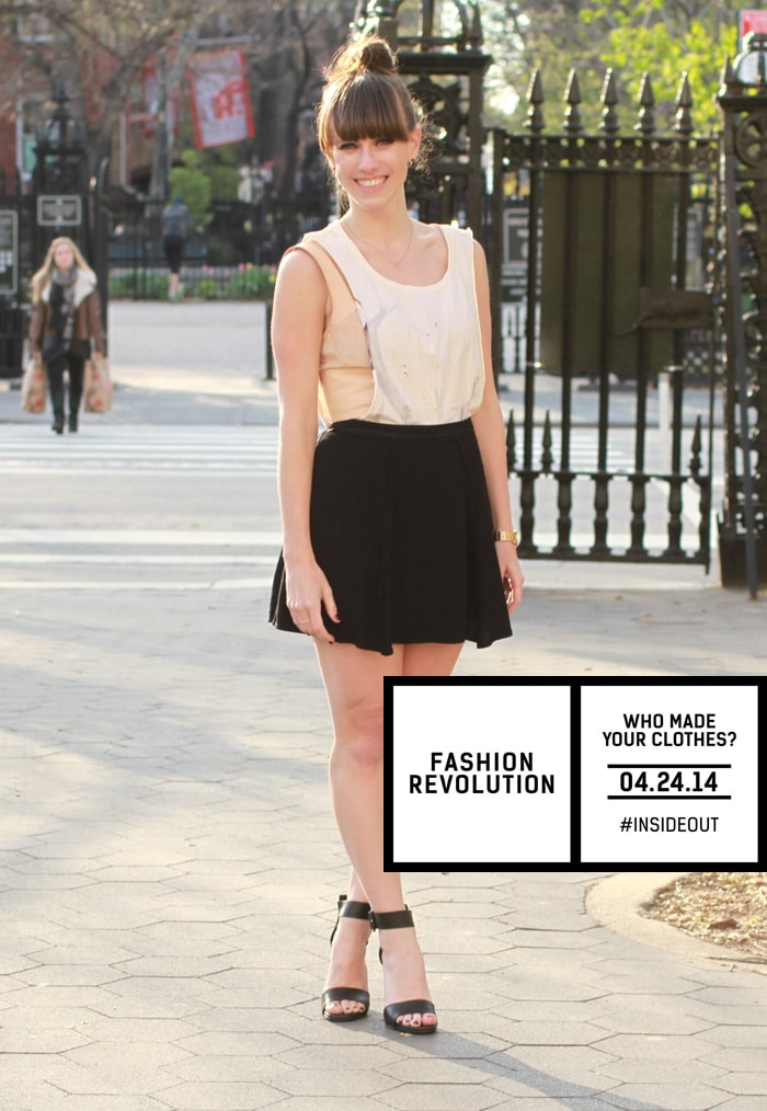 Wear your clothes #insideout for Fashion Revolution Day!