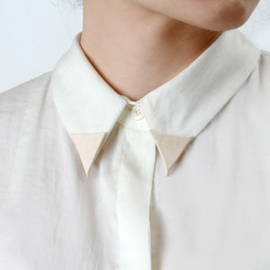 Love Dart Pennant Collar Tips // handmade from vegetable-tanned leather