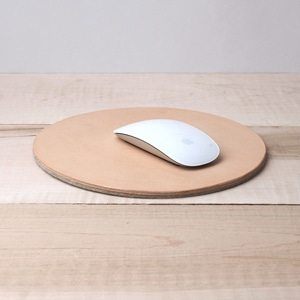 Two in one! Love Dart reversible mousepad/trivet // handmade with vegetable-tanned leather