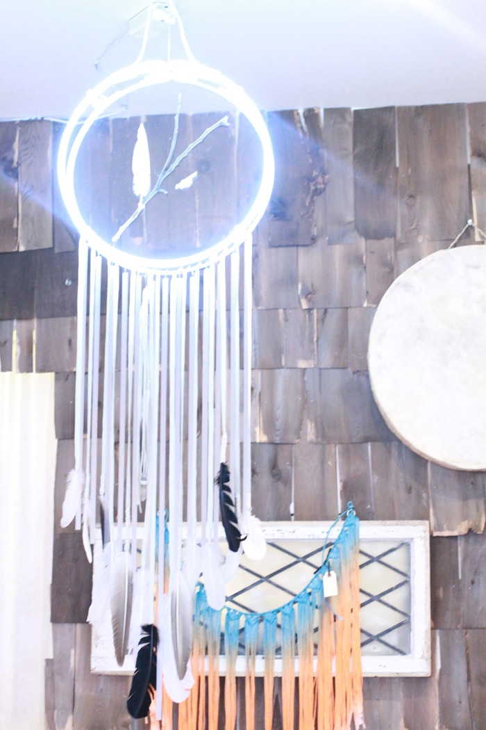 Neon dreamcatcher at Species by the Thousands store in Williamsburg, Brooklyn