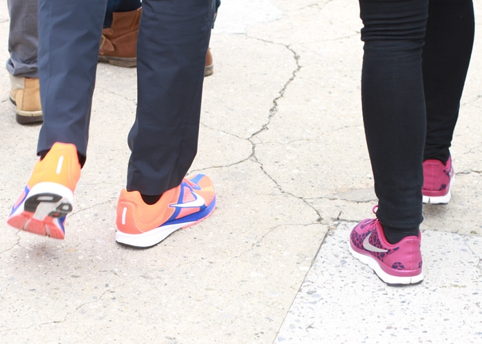 His and her matching Nikes