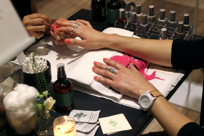 Manicures with Priti nail polish.