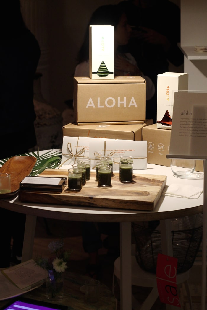 Aloha juices and supplements.