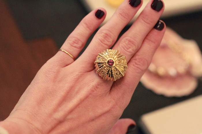 Susan Rockefeller gold sea urchin ring // 5% goes to Ocean Conservation