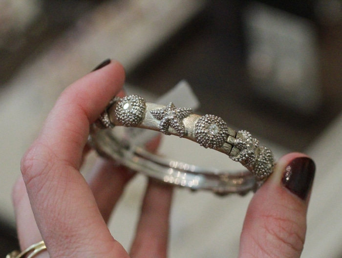 Susan Rockefeller silver xo bracelet // 5% goes to Ocean Conservation