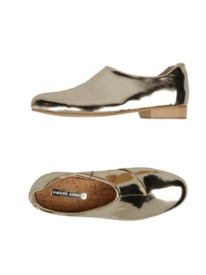 Sydney Brown silver loafers