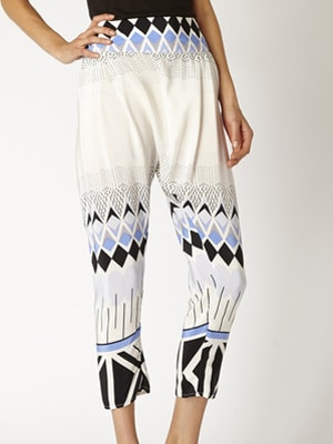 LALesso print trousers // carbon neutral