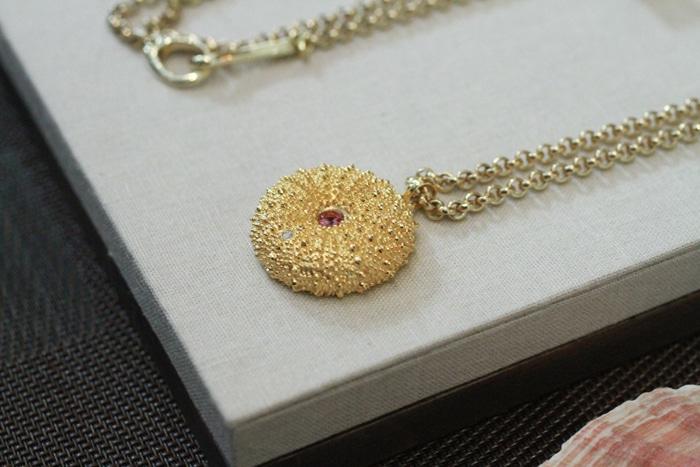 Susan Rockefeller sea urchin necklace // 5% goes to Ocean Conservation