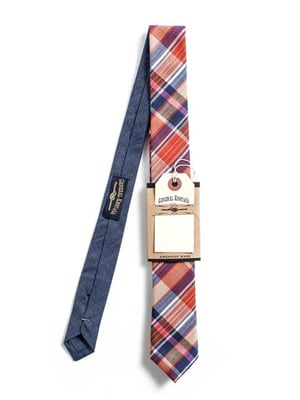 Plaid tie // made in the US