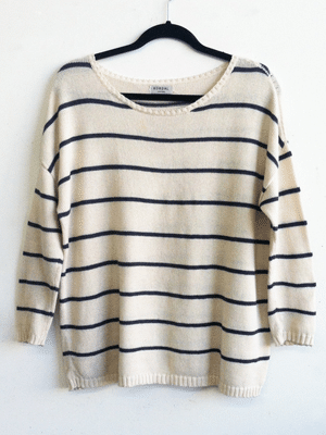 Kordal blue and white striped sweater // Made in NYC