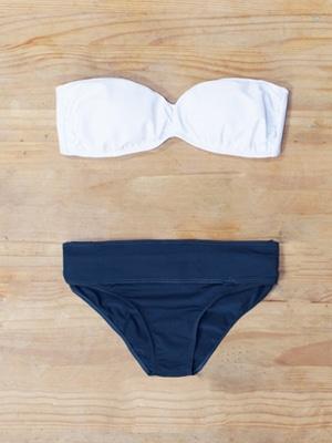 Emerson Fry bikini in blue and white