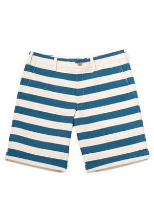 Blue Striped Men's Shorts // made in the US