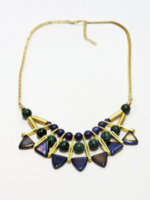 Kris Nation bib necklace // made in the US
