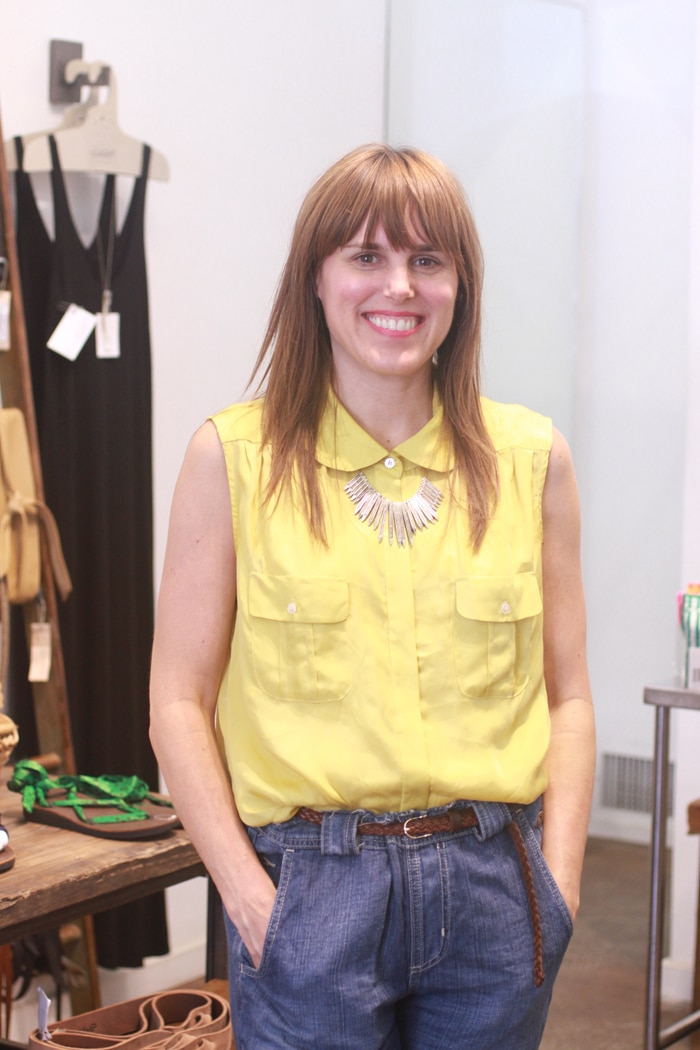Kate McGregor in her sustainable Atlantic Avenue boutique Kaight