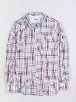 Seawall Plaid Men's Shirt in Blue and Red // Made in the US