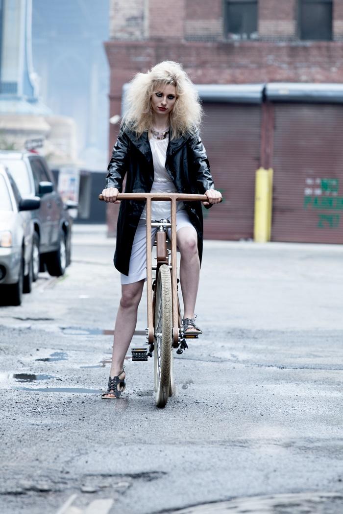 Rebekah: Top, Supra Endura; shorts, Soham Dave; Jacket, Feral Childe; shoes, Bhava; bike, bough bike.