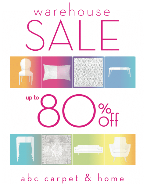 get thee to the bronx. abc home is having a warehouse sale! - ecocult