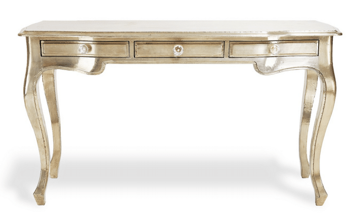 White Metal Gilded Console