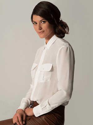 Silk Boyfriend Shirt by Carrie Parry // made in NYC Garment District