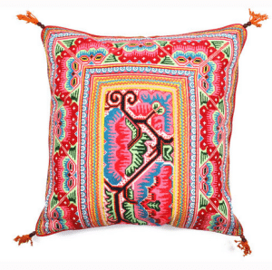 Embroidered pillow by JADEtribe // ethical and sustainable