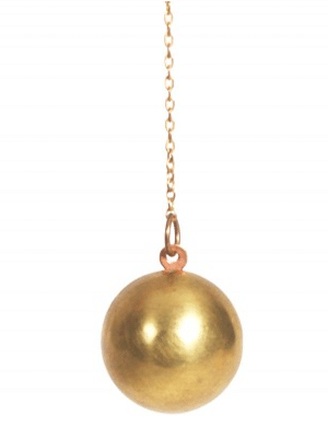 Laura Lombardi sphere locket necklace