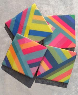 Post Studio stripe coasters
