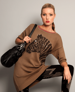Conditions apply sweater dress | fair trade from India