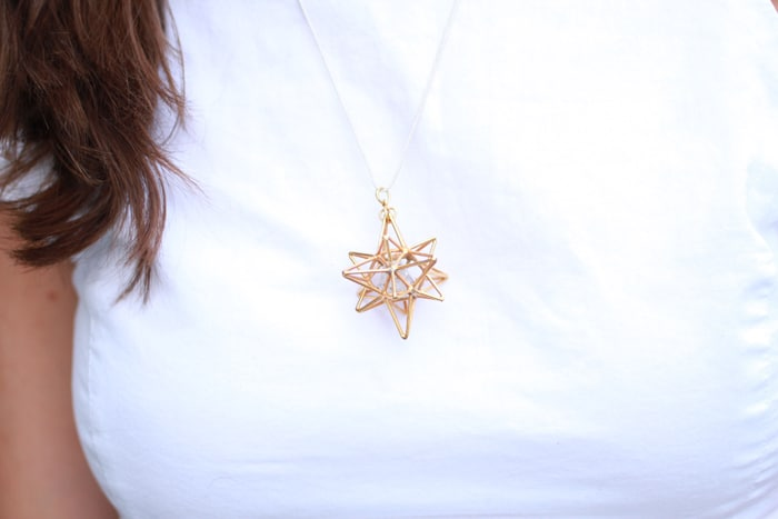 Heart Star sacred geometry necklace