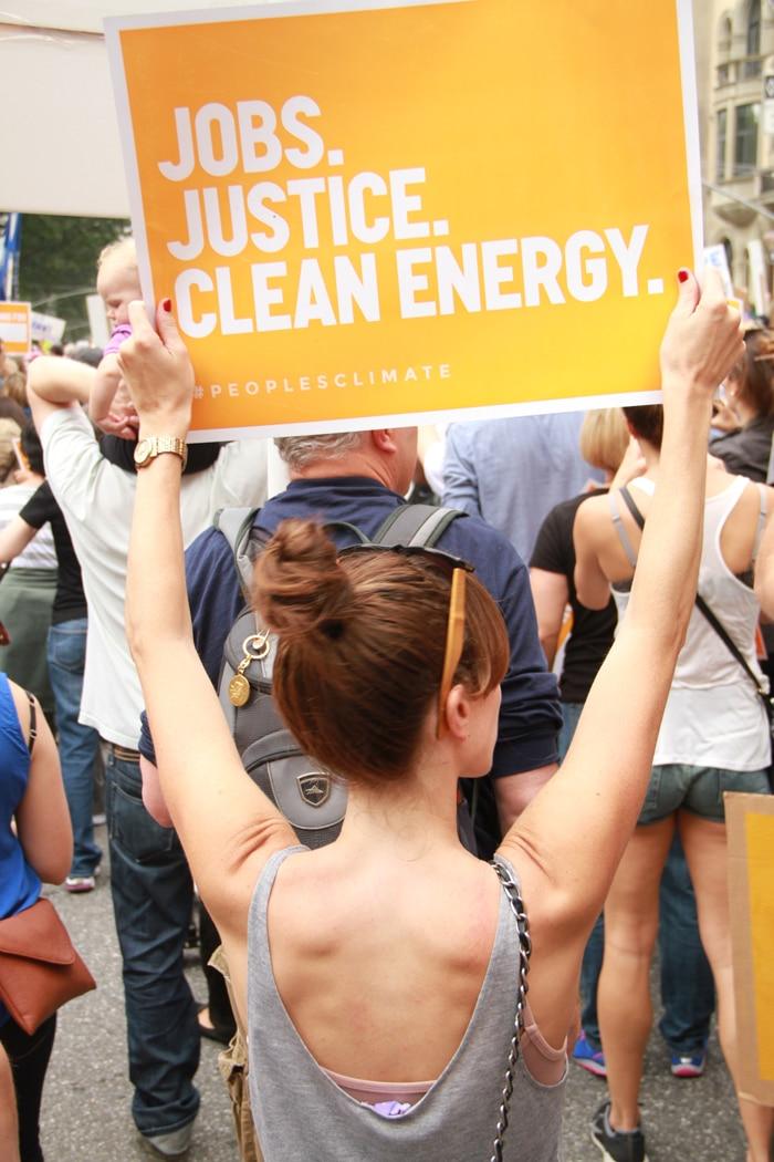 Alden Wicker in People's Climate March