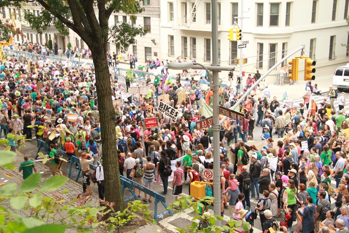People's Climate March Upper West Side