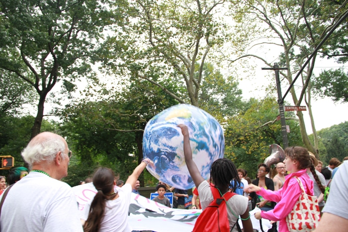 Climate March earth