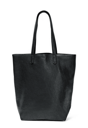 Baggu Basic Tote | Natural milled leather is produced domestically in an ISO-14001 Certified Tannery