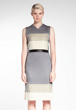 Daniel Silverstein Fragment Dress | Zero waste | lyocell made of wood pulp & silk blend | Made in NYC