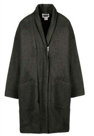 H. Fredrikkson coat | wool and textile fibers | made in NYC