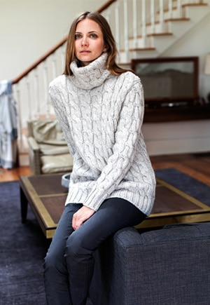 Emerson Fry Italian Alpaca Blend Cableknit Sweater // Made in the US
