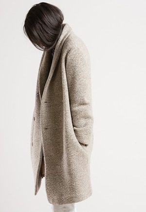 Pas de Calais Coat | Wool and cupra dyed using traditional techniques | Made in Japan