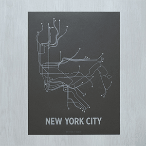 "This subway poster, made in Brooklyn, is a modern and chic way to say, ""I love New York!"" (But there are other cities available too.)"
